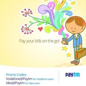 Vodafone & Idea postpaid bills 10% Cashback – PayTm   SaveMoneyIndia