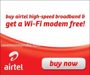 Airtel Broadband Free Wi-Fi Modem on Advance Rental Plan or