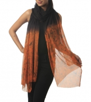 Vida-Chiffon-Black-Orange-Dupatta