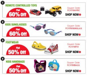 toys sunglasses footwear 300x258 RC Toys & Sunglasses 60% off, Footwear & Handbags 50% off @ FirstCry