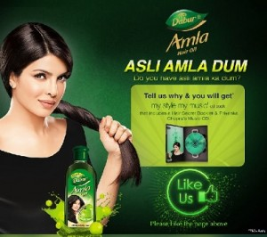 Dabur is offering Free Hair  Dabur Amla Hair Oil Logo