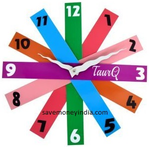 stripes-wall-clock
