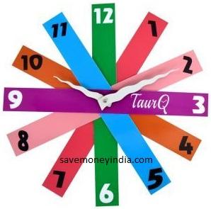 stripes-wall-clock