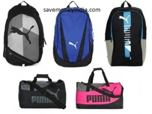ae3d0ac9eeff Myntra is offering upto 40% off + upto 31% off on Puma Backpacks   Duffle  Bags. Free shipping.