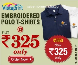 8724992d VistaPrint is offering Personalized Embroidered Polo T-Shirts for Rs. 400 &  Set of 2 for Rs. 650. Features Great for professional work wear, uniforms,  ...
