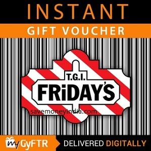 TGI FRiDAYS Voucher Buy 1 Get 1 Free – GiftCardsIndia | SaveMoneyIndia