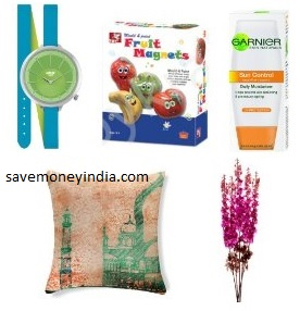 Helix Twisted Watch Rs. 999, Toykraft Fruit Magnets Rs. 105, Garnier Skin Naturals Sun Control Moisturizer SPF 6 50ml Rs. 99 – Amazon