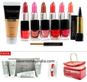 Pretty Looks Make-up Kit + Vanity Bag + Platinum Facial + Watch Rs. 1099 – HomeShop18