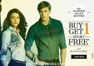 allen solly louis philippe people peter england van heusen shirts buy 1 get 1 free from rs. Black Bedroom Furniture Sets. Home Design Ideas