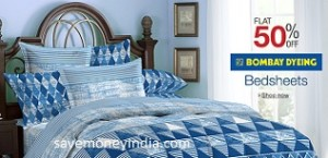 Amazon Is Offering 50% Off On Bombay Dyeing Bedsheets U0026 Blankets. Free  Shipping On Orders Above Rs. 499 U0026 Rs. 40 On Orders Below Rs. 499.