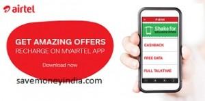 My Airtel App Talktime Cashback, Free Data, Full Talktime