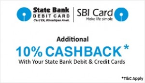 18d12ba6b sbi-snapdeal • Additional 10% Cashback using State Bank Debit   Credit Cards.  • Minimum Transaction of Rs. 5000. • Maximum Cashback of Rs. 1250 per card  ...