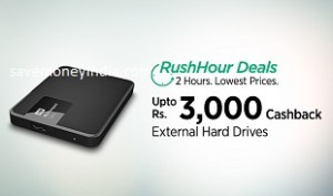External Hard Drives Extra Upto Rs 3000 Cashback Paytm