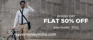 ec111c8dcf29 Jabong is offering 50% + 10% Cashback on Rs. 999 on John Players & Wills  Lifestyle Men's Clothing. Free shipping on ALL orders.
