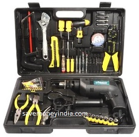 visko impact drill with tool kit set z1j 13 rs 2073 amazon savemoneyindia. Black Bedroom Furniture Sets. Home Design Ideas